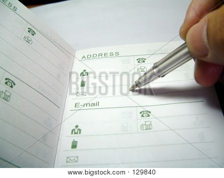 Writing On Address Book