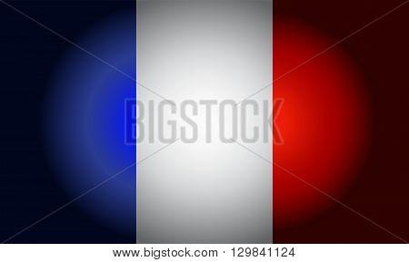French Black flag background Vector illustration for use