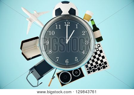 Various Items Around Clock