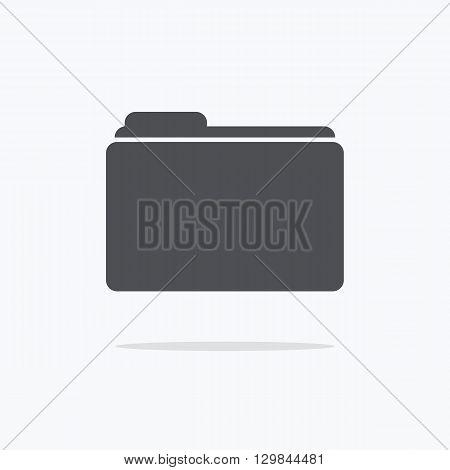 Folder icon. Folder icon logo. Vector illustration.
