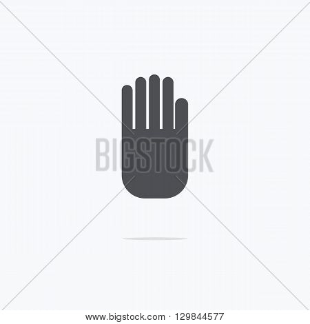 Stop hand Icon. Stop hand icon vector. Vector illustration.