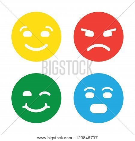 Feedback vector concept. Rank level of satisfaction rating. Feedback in form of emotions smileys emoji. User experience. Customer feedback. Review of consumer. Feedback flat icon.