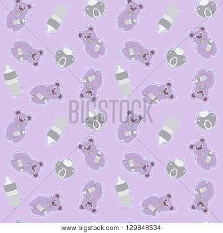 seamless background for children's sleepwear sweet dream