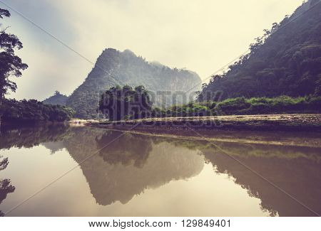 Serene BaBe Lake in Vietnam