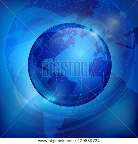 Globe On Blue