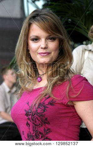 Kimberly J. Brown at the Los Angeles premiere of 'Tiger Cruise' held at the DGA Theatre in Los Angeles, USA on July 27, 2004.