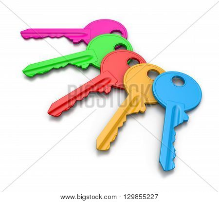 Colorful Keys Set