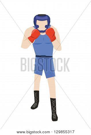 vector illustration of sport man male boxer. eps 10