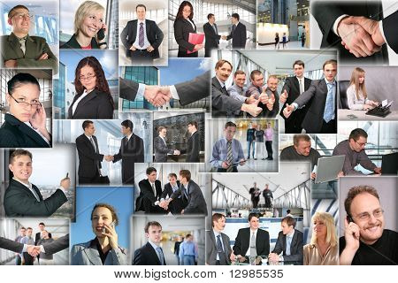 Many business pictures, collage