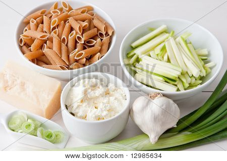 Ingredients For Pasta With Courgette Sauce