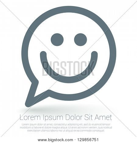 Happy emoticon vector mock up.