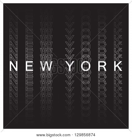 New York poster design. New York city typography, t-shirt graphics. Vector illustration.