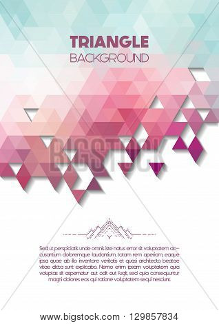 Vector triangle colorful background with copyspace, abstract geometric background