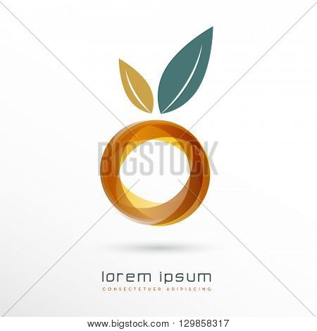 ABSTRACT GEOMETRICAL FRUIT ICON / VECTOR