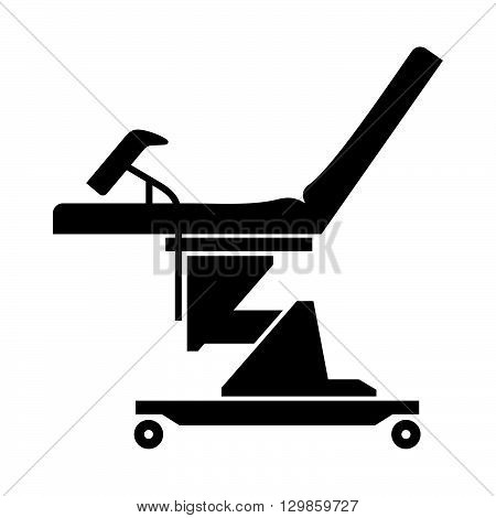 Gynecological chair ( shade picture ) on white background