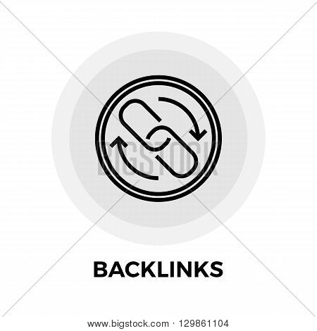 Backlinks Icon Vector. Flat icon isolated on the white background. Editable EPS file. Vector illustration.