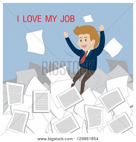 Business happy with job. Can used for advertising idea.