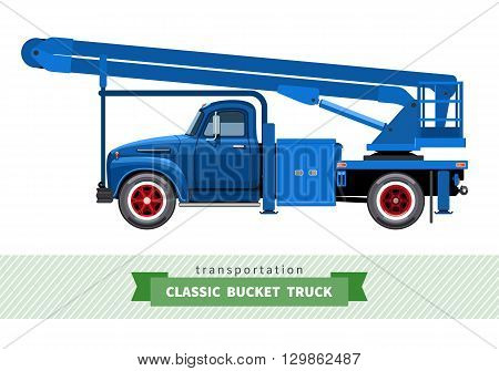 Classic Medium Duty Bucket Truck Side View