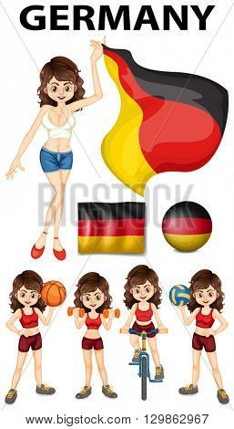 Germany representative and many sports illustration