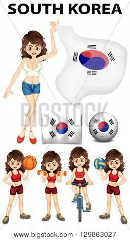 South Korea representative and many sports illustration