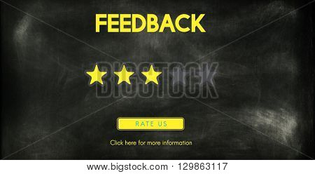 Customer Feedback Comment Vote Review Results Concept