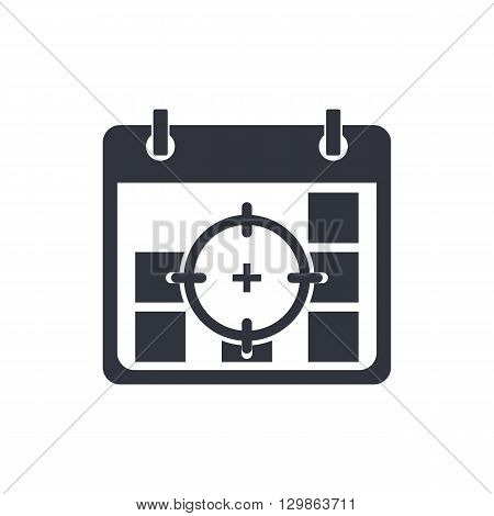 Deadline Icon In Vector Format. Premium Quality Deadline Symbol. Web Graphic Deadline Sign On White