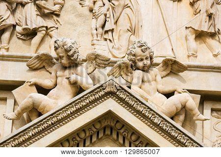 Statue Of Angels At Prague Loreta