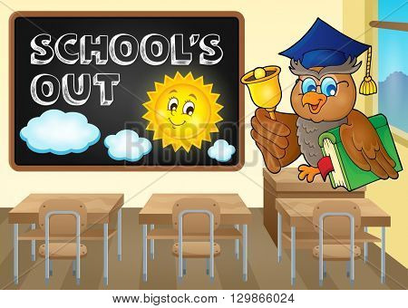 School holidays theme image 4 - eps10 vector illustration.