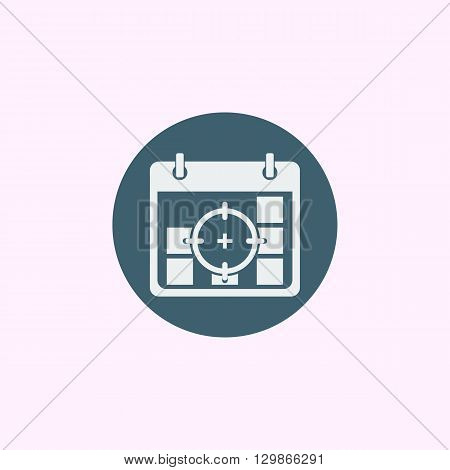 Deadline Icon In Vector Format. Premium Quality Deadline Symbol. Web Graphic Deadline Sign On Blue C