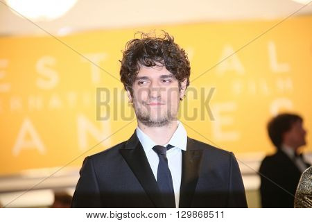 Louis Garrel  leaves the 'From The Land Of The Moon (Mal De Pierres)' premiere during the 69th annual Cannes Film Festival at the Palais des Festivals on May 15, 2016 in Cannes, France.