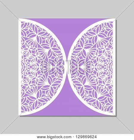 Envelope Template With Mandala Lace Ornament.