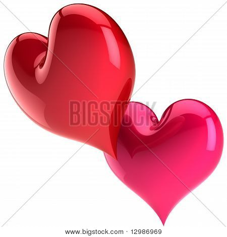 Pasión de formas de corazón de San Valentín