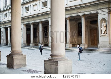 Uffizi Gallery Courtyard Florence