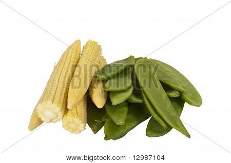 Mangetout And Baby Corn