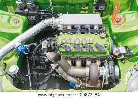 Modified Green Honda Engine