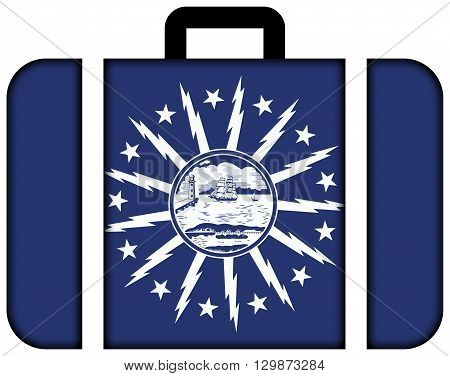 Flag Of Buffalo, New York. Suitcase Icon, Travel And Transportation Concept