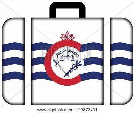 Flag Of Cincinnati, Ohio. Suitcase Icon, Travel And Transportation Concept