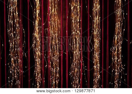 Abstract Of Hanging Fairy Lights