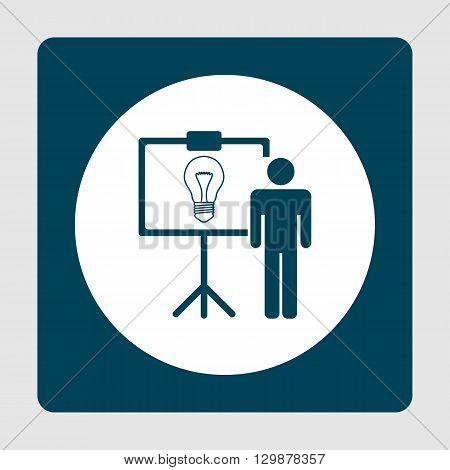 Presentation Idea Icon In Vector Format. Premium Quality Presentation Idea Symbol. Web Graphic Prese