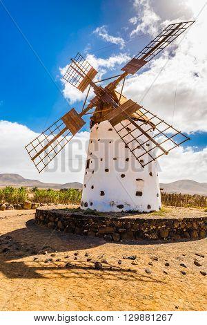 Traditional Windmill - El Cotillo Fuerteventura Canary Islands Spain