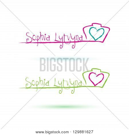 Wedding photographer Logo design. Camera Logo Design for Creative Photo Studio. Vector Illustration