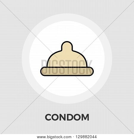 Condom icon vector. Flat icon isolated on the white background. Editable EPS file. Vector illustration.