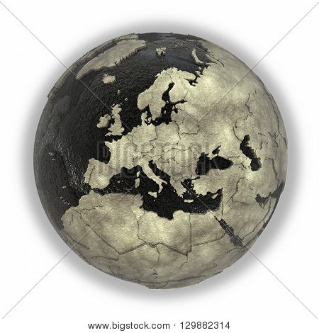 Europe On Earth Of Oil