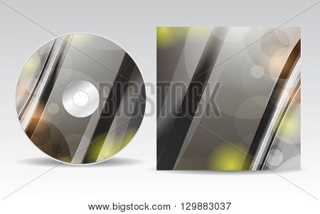 Cd cover design template with copy space, vector illustration
