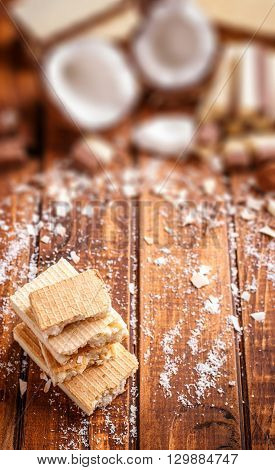 Wafer With White Chocolate