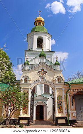 Resurrection Church Kyiv-Pechersk Lavra in the spring Kyiv, Ukraine