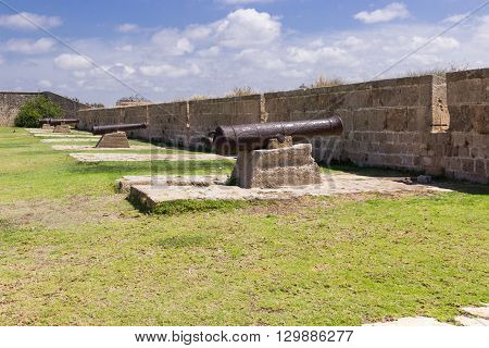 Old Cannons On The Fortress Wall
