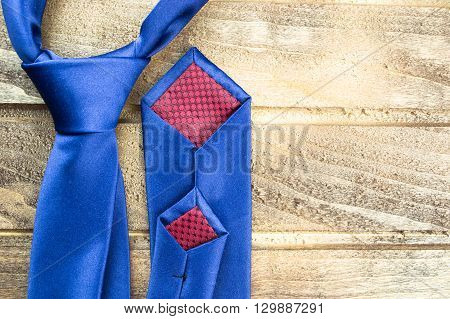 Bow tie on a wooden background close up
