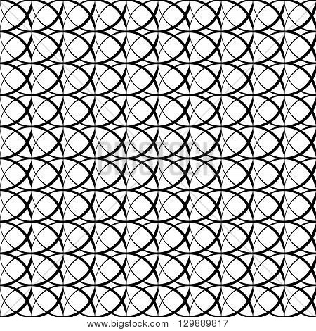 Seamless Pattern With Intersecting Circles. Repeatable Abstract Pattern, Background.