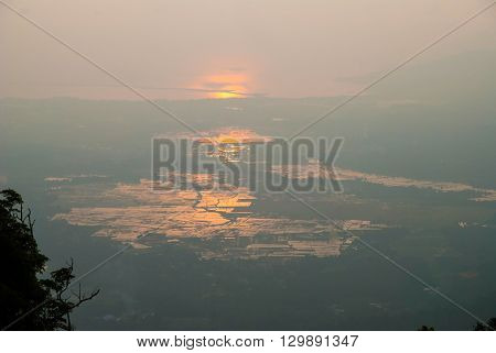 Langkawi Island At Sunset In Haze